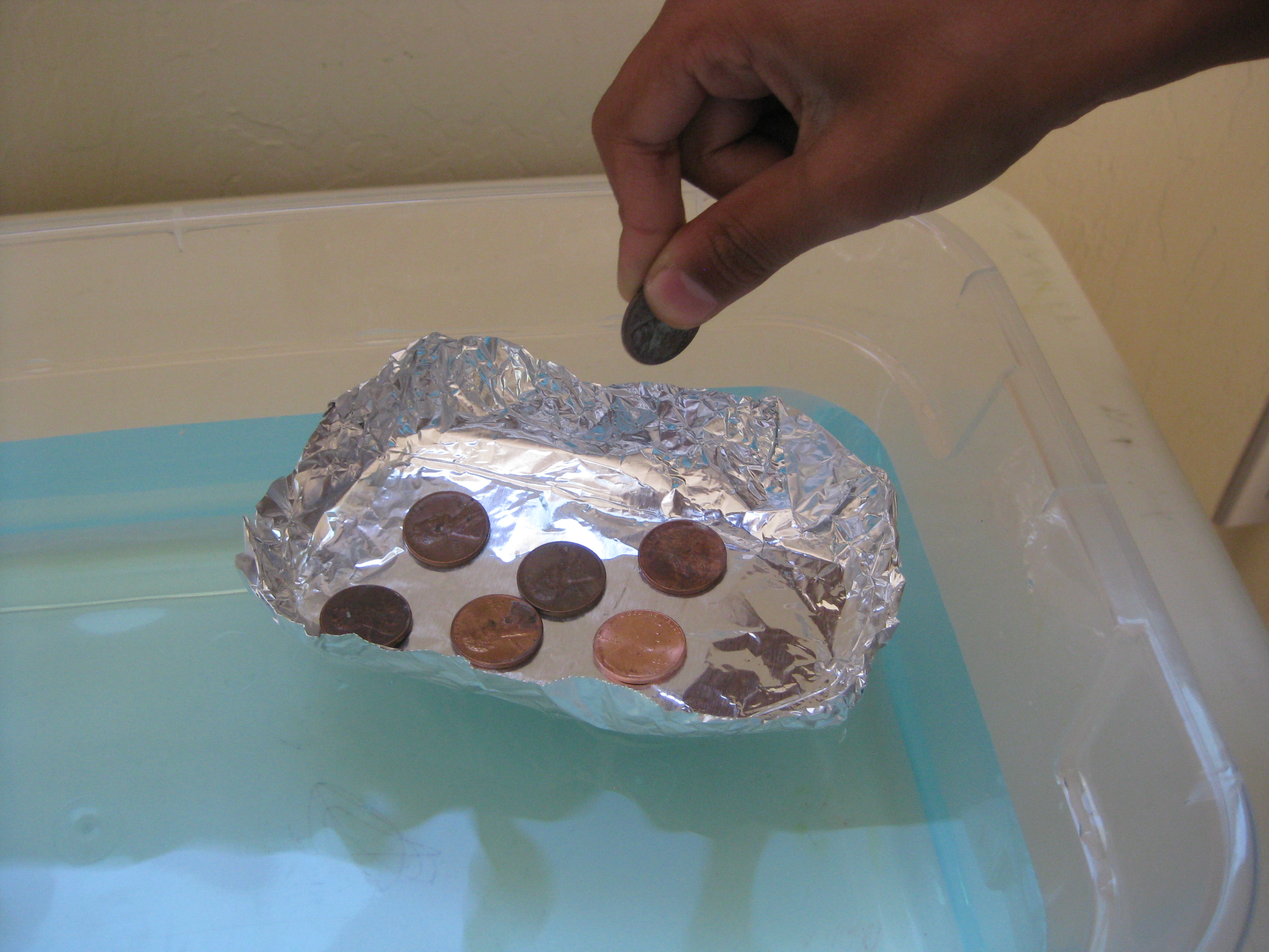 Boat Aluminum Foil Hold Pennies